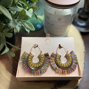 NEW C&C CALIFORNIA fringe earrings